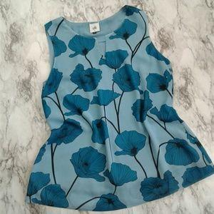 CAbi Blue Poppy Sleeveless Career Top Style 3268